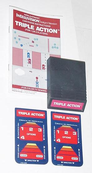 Intellivision Triple Action Game Cartridge