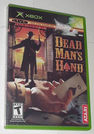 XBOX Dead Man's Hand w Case + Instructions NOT 360