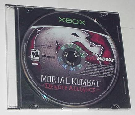 XBOX Mortal Kombat Deadly Alliance Disk Only
