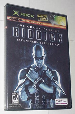 XBOX Chronicles of Riddick w Case + Instructions