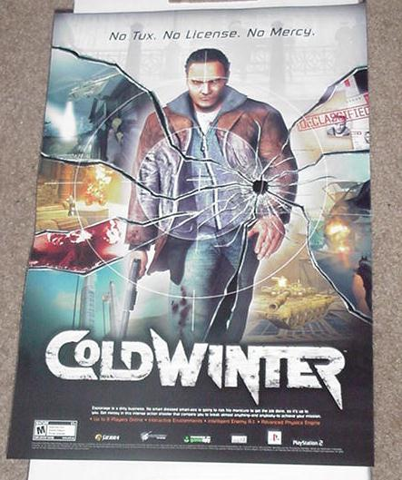 Cold Winter Poster Video Game Promo