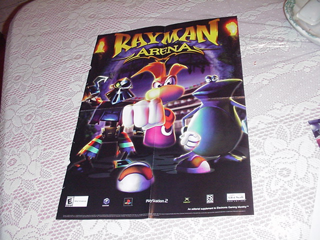 Rayman Arena Poster Video Game Promo PS2 Xbox
