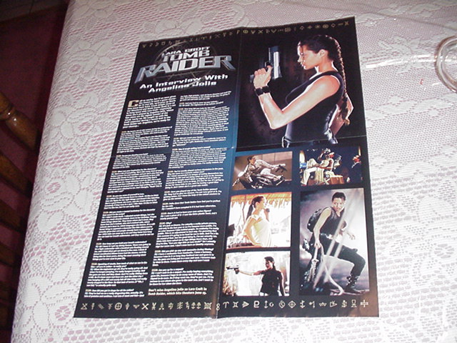 Tomb Raider Movie Interview Poster Angelina Jolie