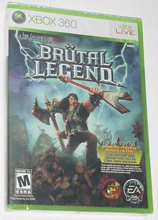 Xbox 360 Brutal Legend SEALED Open World + Metal