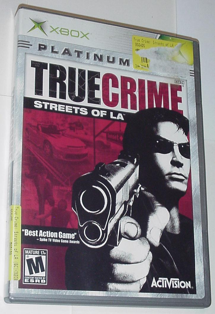 Xbox Original True Crime Streets of L.A. w/ Case