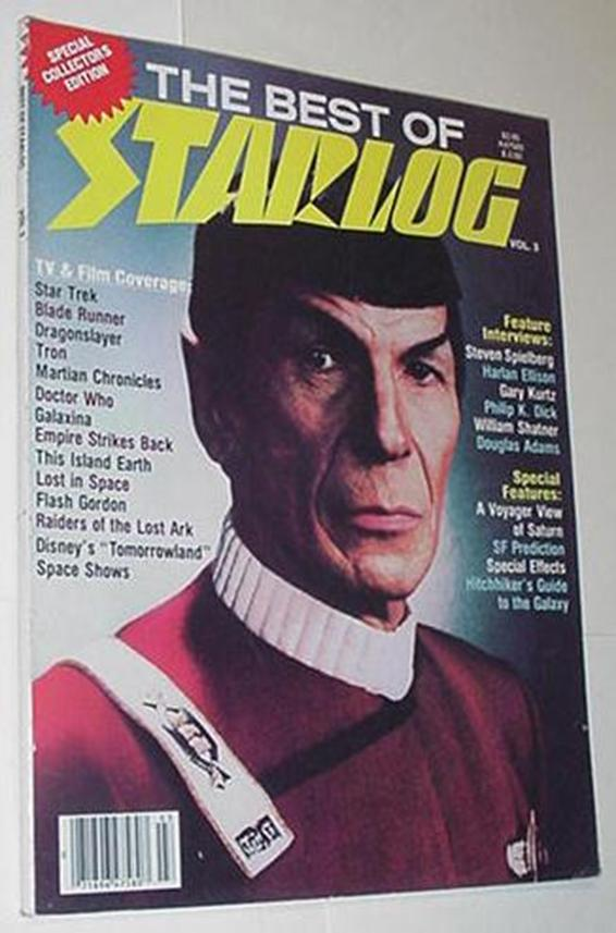 Best of Starlog 3 NM Spock Cvr Philip K Dick Dougl