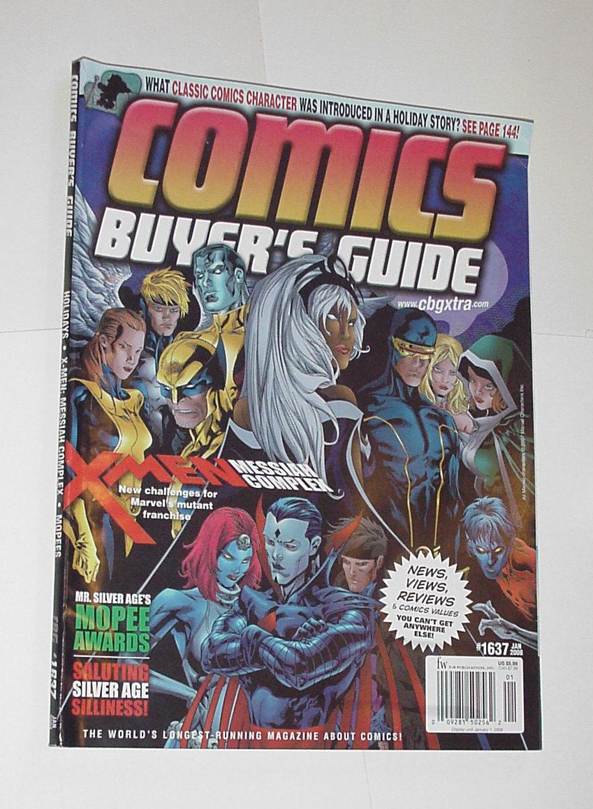 Comics Buyer's Guide 1637 NM X-Men Messiah Complex