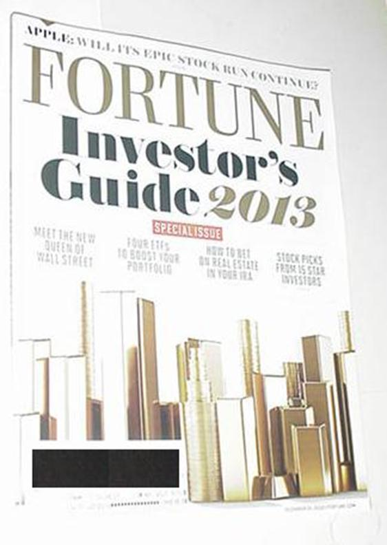 Fortune Magazine Vol 166 # 10 NM Apple Stock / Que