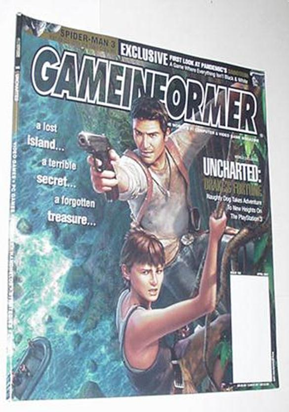 Game Informer 168 NM Uncharted Drakes Fortune Cvr