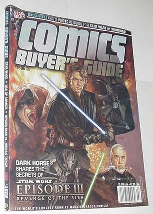 Comics Buyer's Guide 1606 NM Star Wars Episode III