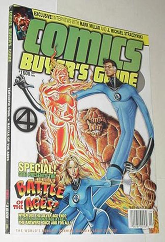 Comics Buyer's Guide 1608 NM Fantastic Four Cvr Ma