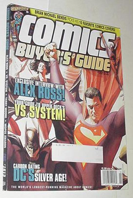 Comics Buyer's Guide 1613 NM Alex Ross Superman Ba