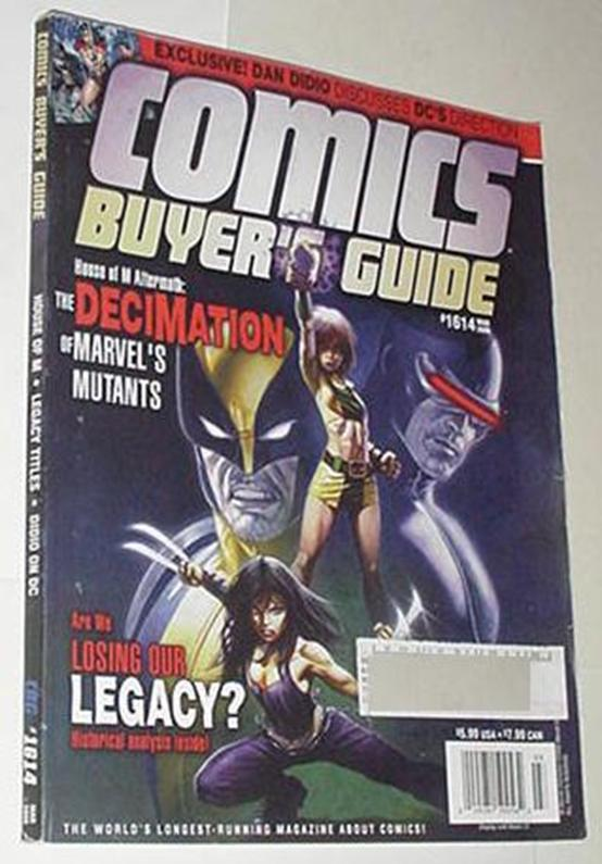 Comics Buyer's Guide 1614 NM X-23 Decimation Cvr A