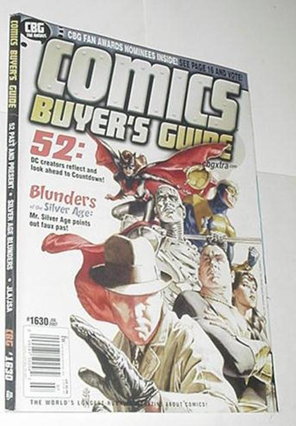 Comics Buyer's Guide 1630 NM J.G. Jones DC's 52 Co