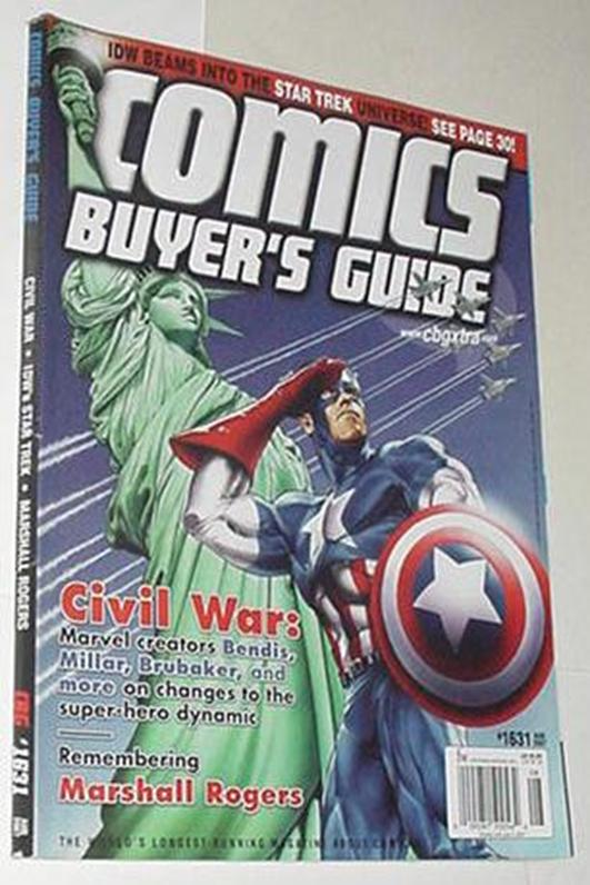 Comics Buyer's Guide 1631 NM Captain America Statu