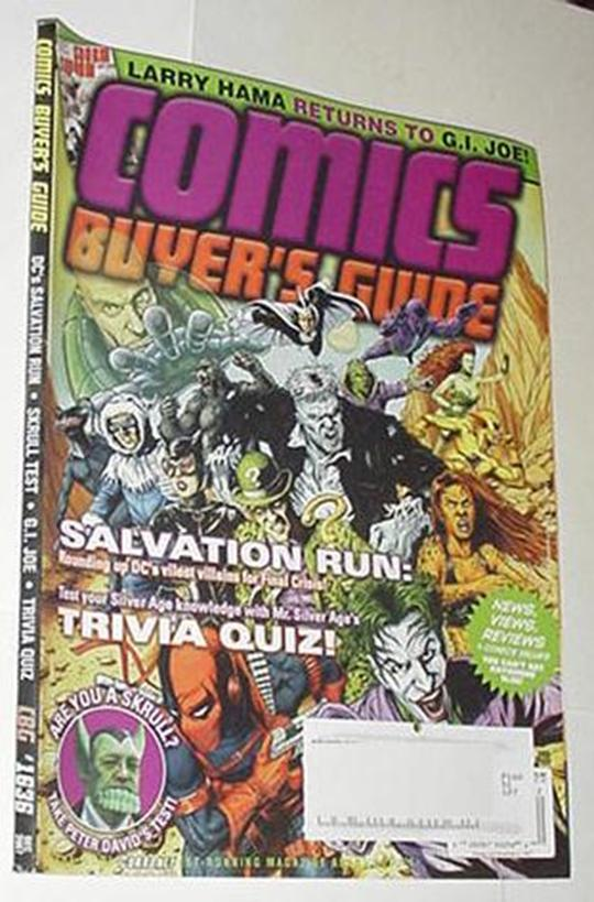 Comics Buyer's Guide 1636 NM DC Villains Cvr Joker