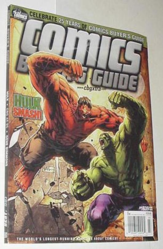 Comics Buyer's Guide 1639 NM Hulk vs Red Hulk Cvr