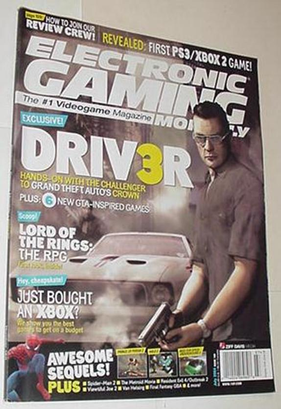 Electronic Gaming Monthly 180 NM Driv3r Cvr Red De