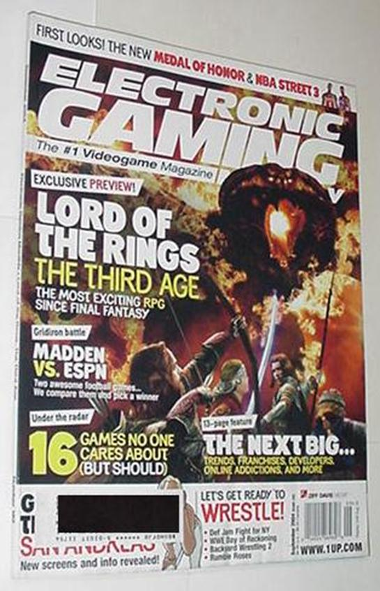 Electronic Gaming Monthly 182 NM Lord of the Rings