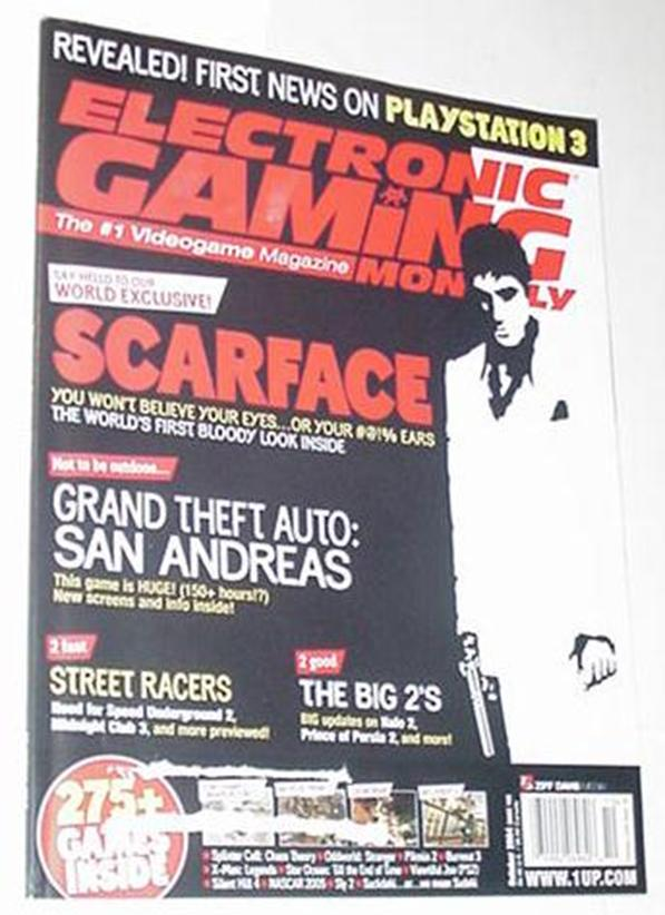 Electronic Gaming Monthly 183 NM Scarface Cvr Burn