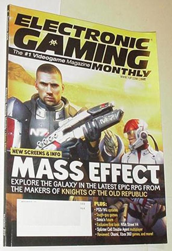 Electronic Gaming Monthly 207 NM Mass Effect Cvr D