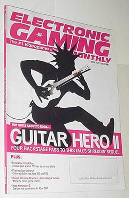 Electronic Gaming Monthly 208 NM Guitar Hero 2 Cvr