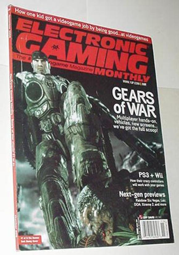 Electronic Gaming Monthly 209 NM Gears of War Cvr