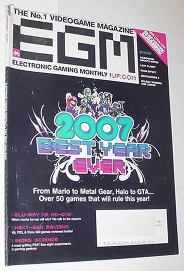Electronic Gaming Monthly 212 2007 Best Year Ever?