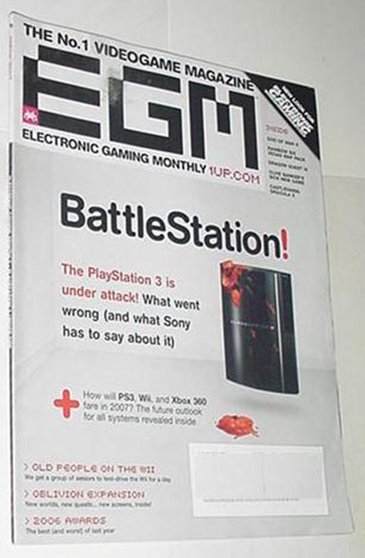 Electronic Gaming Monthly 213 NM PS3 a DUD? God of