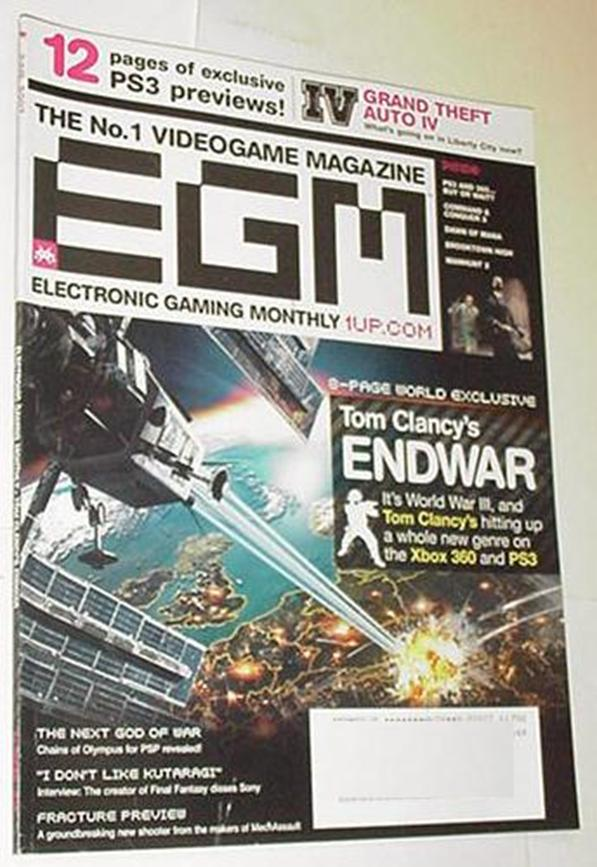 Electronic Gaming Monthly 216 NM EndWar Cvr Unchar