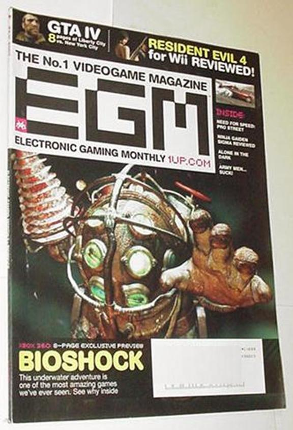 Electronic Gaming Monthly 217 NM BioShock Cvr Gran
