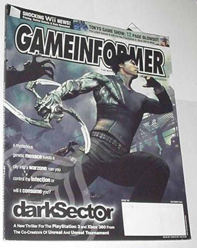 Game Informer 163 NM Nov 2006 Dark Sector Cvr