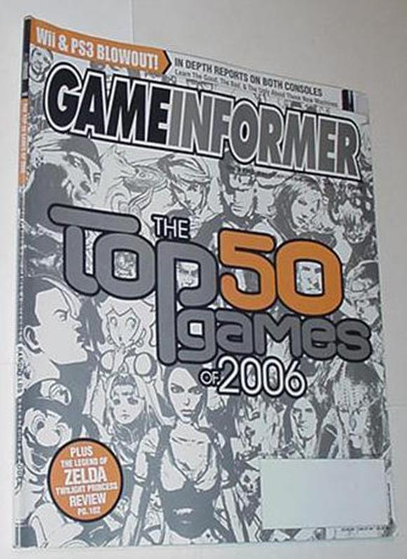 Game Informer 165 NM Top 50 Games 2006 Legend of Z