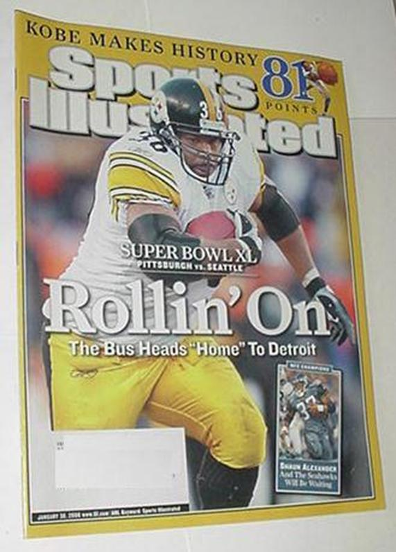 Sports Illustrated Jan 30 2006 Jerome Bettis Kobe