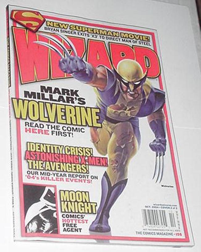 Wizard 156 Wolverine Cover Mike Mayhew Art!