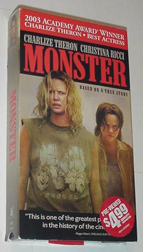 Monster VHS Charlize Theron Christina Ricci