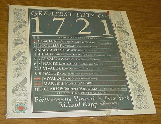 Greatest Hits of 1721 LP Bach Corelli Vivaldi LP