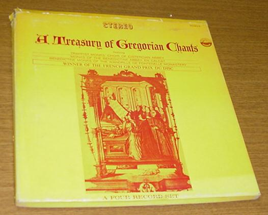A Treasury of Gregorian Chants 4 LP Trappist Monks