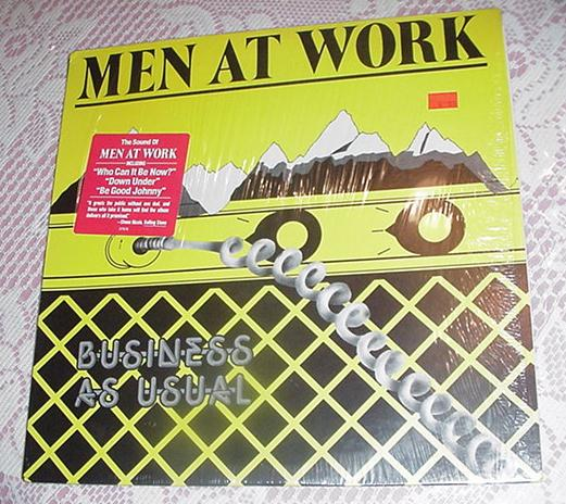 Men At Work Business As Usual LP FC37978 1982