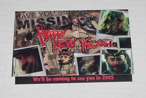 Devil's Rejects Happy New Year Card Rob Zombie 8x6