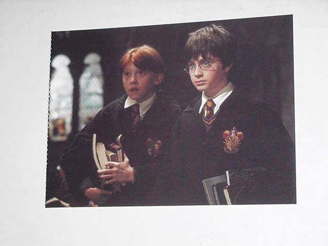 Harry Potter Sorcerer's Stone Postcard w Ron