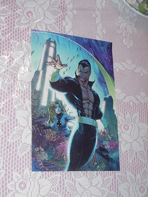 Namor + Invisible Woman Poster Civil War Turner