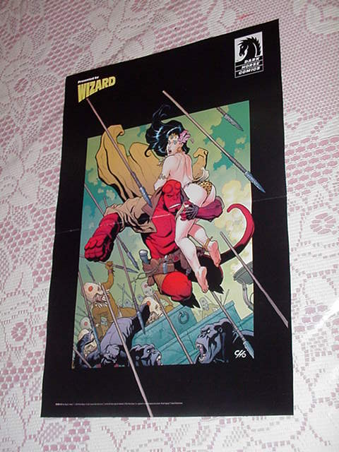 Hellboy Cavewoman Poster Frank Cho Liberty Meadows