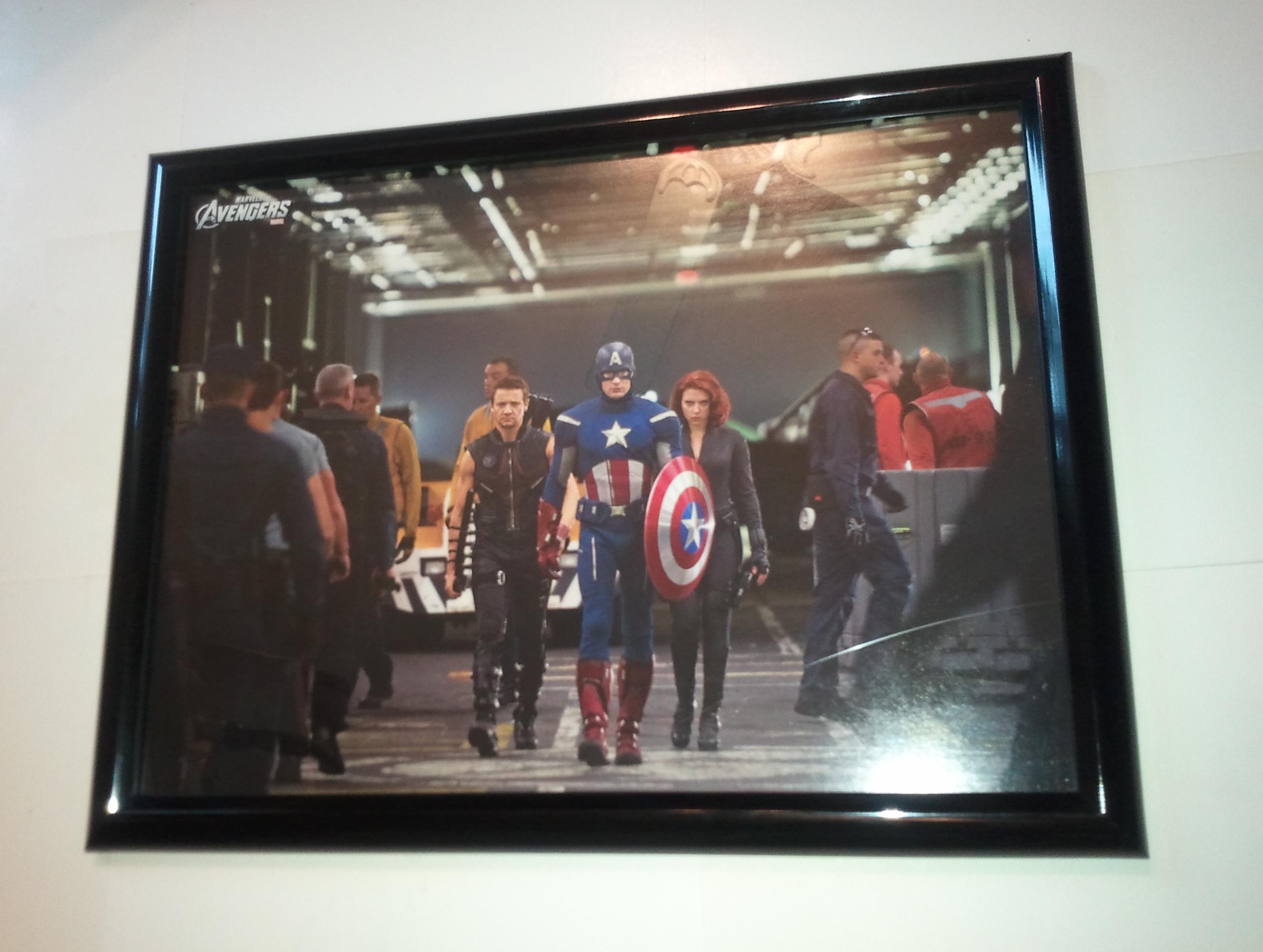 Avengers Poster #198 FRAMED Cap Hawkeye Widow