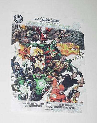 Brightest Day DC Comics Promo w/ Checklist Green L
