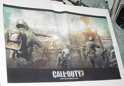 Call of Duty 3 Poster Video Game Promo (Larger)
