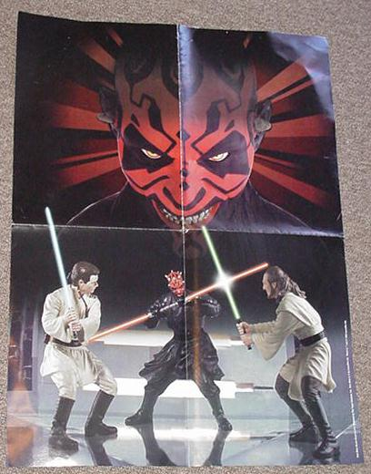 Darth Maul Toy Poster / Hasbro 1999 Coll Poster