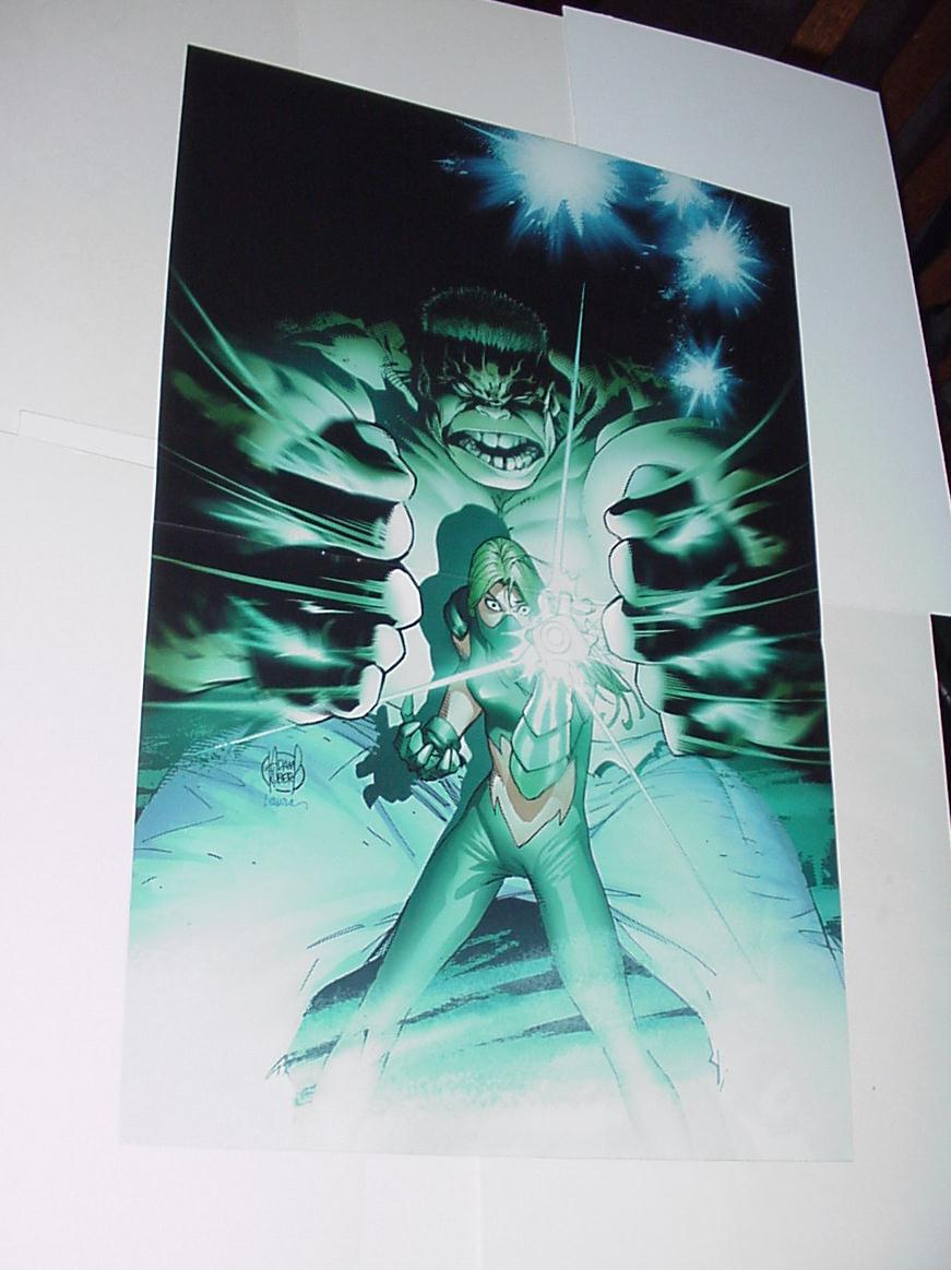 Hulk Poster #39 vs Carmilla Black by Andy Kubert