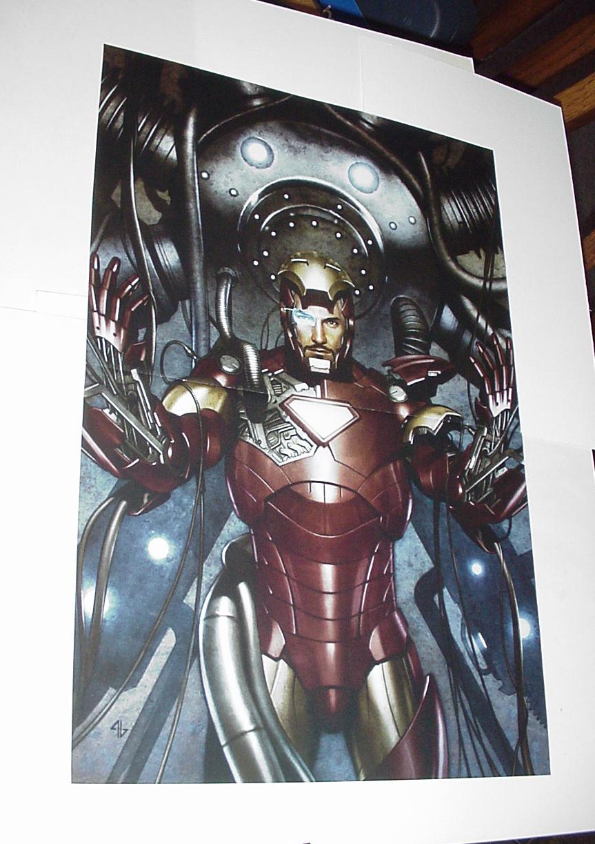 Iron Man Poster #52 Suiting Up Armor by Adi Granov