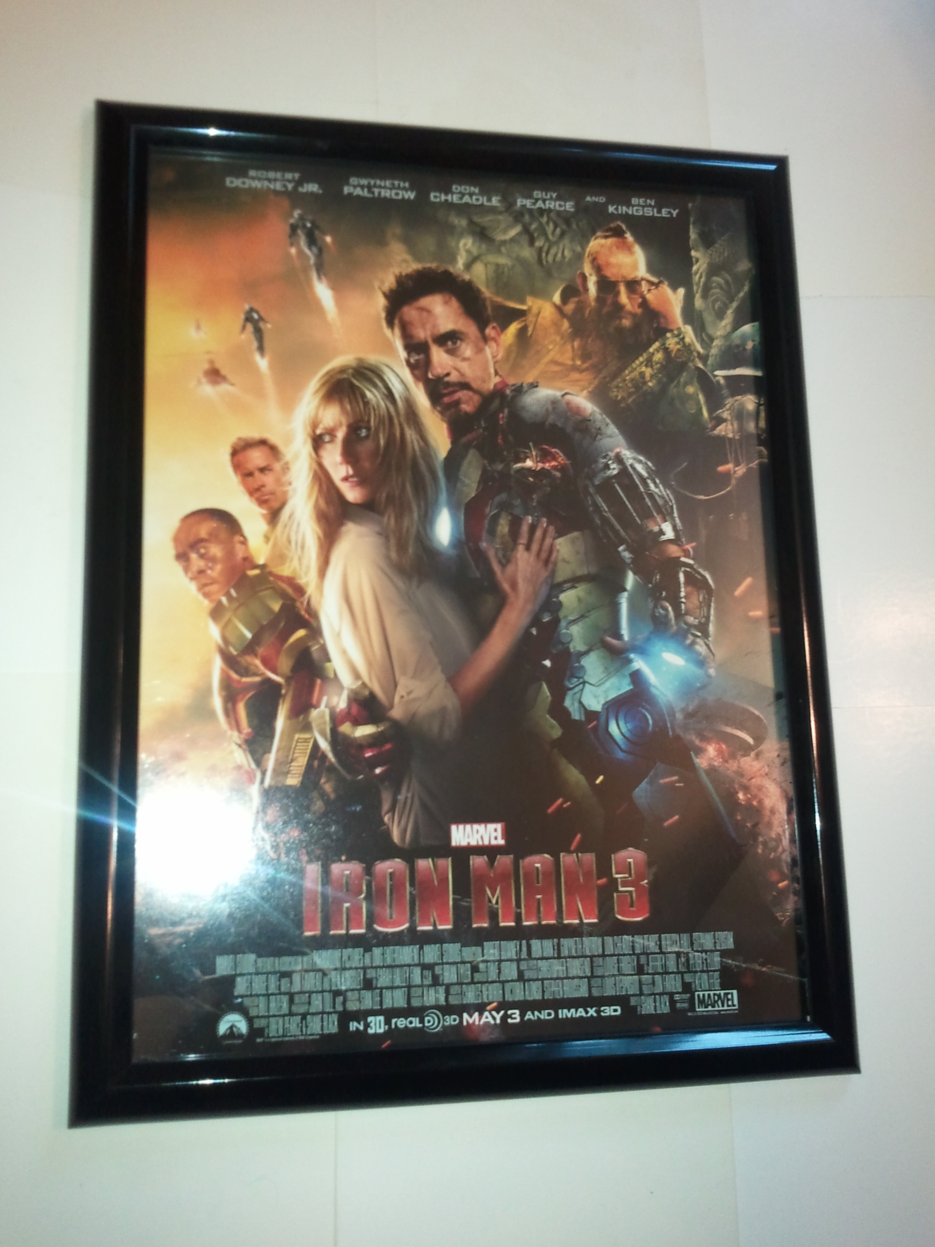 Iron Man Poster #86 FRAMED Iron Man 3 Movie Robert Downey ...